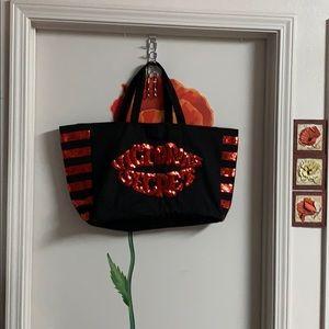 Victoria Secret tote bag big& sequins!